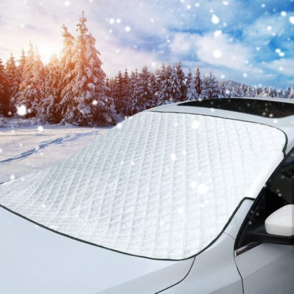 9. MITALOO Car Windshield Snow Cover, Ice Removal Sun Shade for Winter Protection
