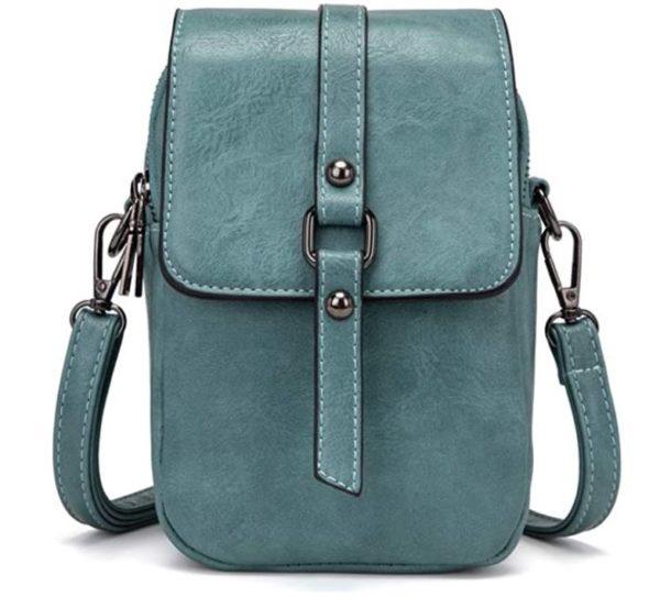 9. Women Vintage Crossbody Phone Bag, Small Messenger Shoulder Bag Cash Handbag Wallet Purse
