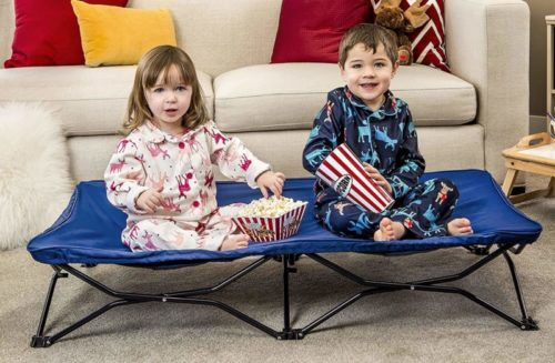 Regalo My Cot Portable Toddler Bed, Includes Fitted Sheet, Royal Blue TOP 10 BEST TODDLER TRAVEL BEDS IN 2021 REVIEWS