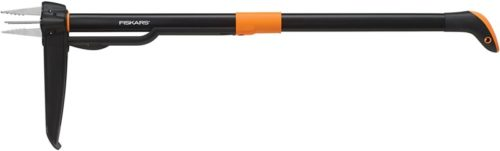 Fiskars 4-Claw Weeder 39 Inch , Black/Orange (339950-1001)