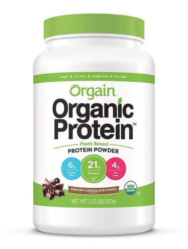 Orgain Organic Plant Based Protein Powder, Creamy Chocolate Fudge - Vegan, Low Net Carbs, Non Dairy, Gluten Free, Lactose Free, No Sugar Added, Soy Free, Kosher, 2.03 Pound (Packaging May Vary) TOP 10 BEST PROTEIN POWDERS FOR PREGNANCY IN 2021 REVIEWS