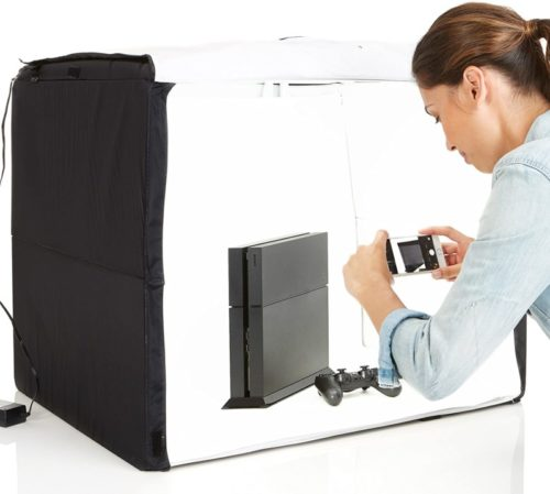 AmazonBasics Portable Foldable Photo Studio Box with LED Light - 25 x 30 x 25 Inches TOP 10 BEST PHOTO STUDIO LIGHT BOX IN 2020 REVIEWS
