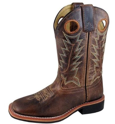 Smoky Children's Kid's Jesse Brown Distress and Brown Crackle Leather Western Cowboy Boot TOP 10 BEST SMOKY MOUNTAIN BOOTS IN 2020 REVIEWS