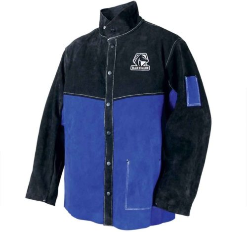Black Stallion JL1030-BB Color Block Leather Welding Jacket, X-Large