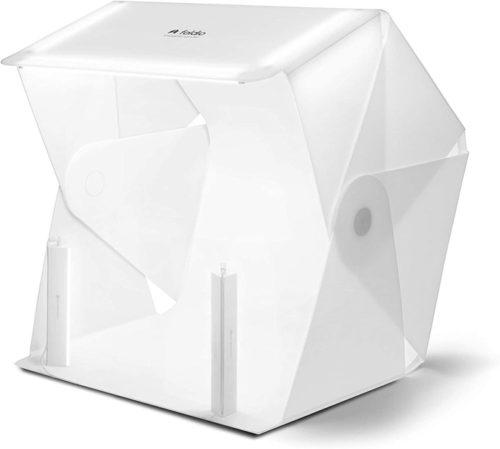 "Foldio3 + Halo Bars (25"" All-in-one Portable Foldable Photo Shooting Studio Light Box with LED Lightning Kit) by ORANGEMONKIE"
