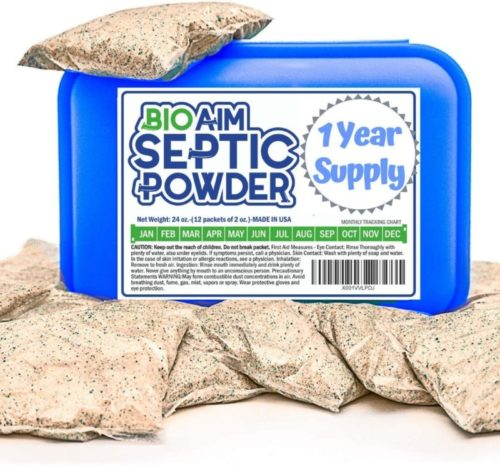 Septic Tank Treatment. 12 Monthly Treatments One Flush. Safe Green Bacteria and Enzymes Powder in Packets. Get Rid Of Odor and Any Organic Clog. Avoid Expensive Sewage Backups.