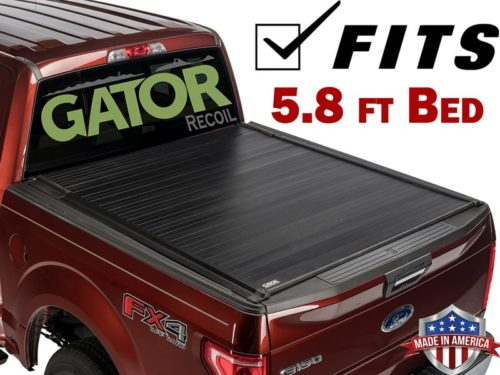 Gator Recoil Retractable (fits) 2021 Chevy Silverado GMC Sierra 5.8 FT Bed Only Retractable Tonneau Truck Bed Cover Made in The USA G30481 (New Body ONLY)