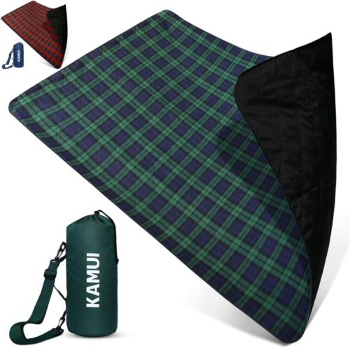 KAMUI-Outdoor-Waterproof-Blanket-Machine-Washable-Stadium-Blanket-Waterproof-and-Windproof-Backing-Portable-Shoulder-Hand-Strap-Great-for-Festival-Beach-Ground-Blanket-79X55inch-201X140cm
