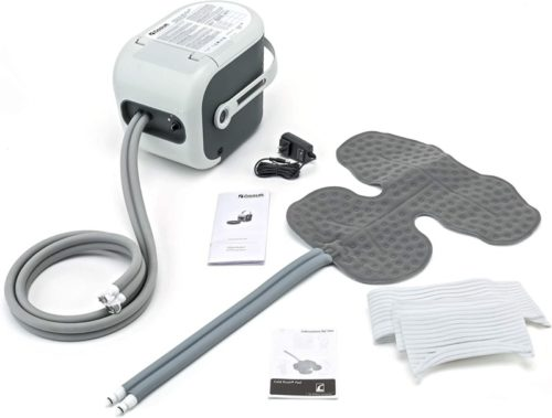 Ossur-Cold-Rush-Therapy-Machine-System-with-Large-Shoulder-Pad-Ergonomic-Adjustable-Wrap-Pad-Included-Quiet-Lightweight-and-Strong-Cryotherapy-Freeze-Kit-Pump