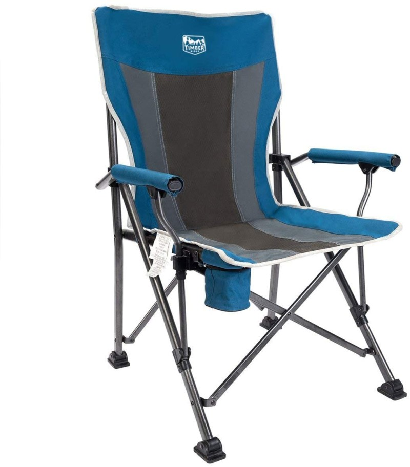Timber-Ridge-Camping-Chair-400lbs-Folding-Padded-Hard-Arm-Chair-High-Back-Lawn-Chair-Ergonomic-Heavy-Duty-with-Cup-Holder-for-Camp-Fishing-Hiking-Outdoor-Carry-Bag-Included