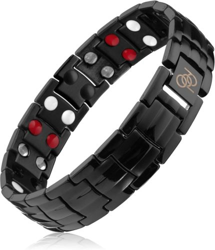 Titanium-Magnetic-Therapy-Bracelet-4000-Gauss-Rare-Earth-Magnets-Help-Relieve-Wrist-and-Hand-Pain-Inflammation-from-Computer-Use-Golf-Tennis-Sports-Exact-Length-8.18-8.74