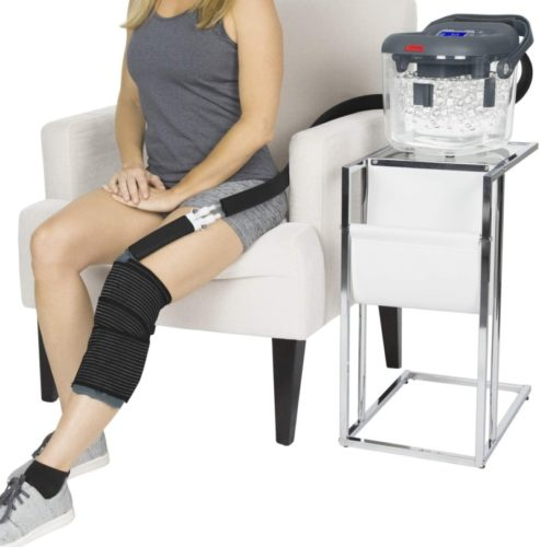 Vive-Cold-Therapy-Machine-Large-Ice-Cryo-Cuff-Flexible-Cryotherapy-Freeze-Kit-System-Fits-Knee-Shoulder-Ankle-Cervical-Back-Leg-Hip-and-ACL-Wearable-Adjustable-Wrap-Pad-Cooler-Pump