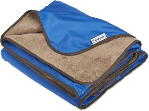 XL-Plush-Fleece-Outdoor-Stadium-Rainproof-and-Windproof-Picnic-Blanket-Camp-Blanket-Blue