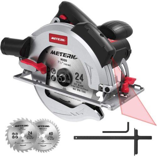 #7. Meterk Circular Saw with Red Laser