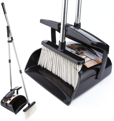#7. Ollsdire Outdoor Broom and Dustpan