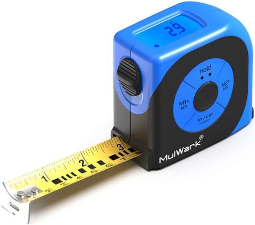 #8. MULWARK Digital Tape Measure with LCD