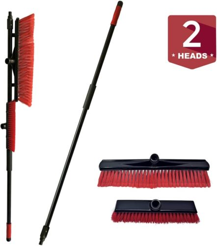 #9. Foxtrot Outdoor Broom and Brush Combo