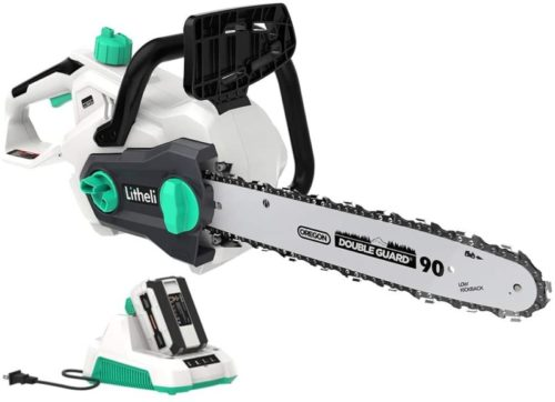 #9. LiTHELi Powerful Cordless Chainsaw