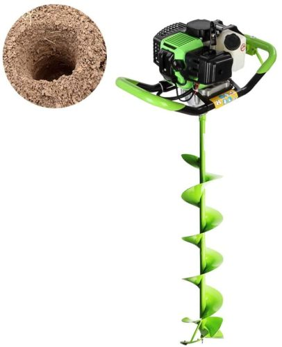 Robbey 52cc Electric Ice Auger, 2 Stroke Gas Power Earth Auger Post Hole Digge