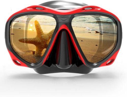 COPOZZ Scuba Mask, No Fogging Snorkeling Scuba Dive Glasses, Great Seal Free Diving Tempered Glass Mask Goggles