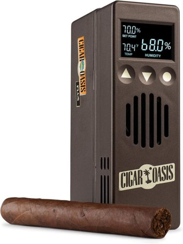 Cigar-Oasis-Plus-3.0-Electronic-Humidifier-for-end-table-humidors-4-10-cubic-feet-300-1000-cigar-capacity