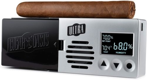 Cigar-Oasis-Ultra-3.0-Electronic-Humidifier-for-50-100-Cigar-Count-Desktop-Humidors-–-Slim-Sleek-Profile-with-lid-Mount-Option-–-The-Original-Set-it-and-Forget-it-humidification-Solution