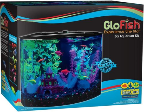 GloFish Aquarium Kit Fish Tank with LED Lighting and Filtration Included