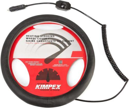 Kimpex 950491 Heated Steering Wheel Cover, Black
