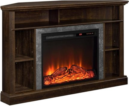 Ameriwood Home Corner Fireplace TV Stands