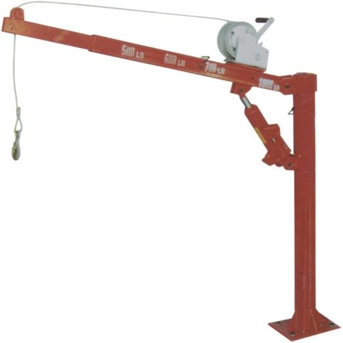 1000 Lb Davit Crane Hoist Truck Jib with Winch for PWC or Dinghy