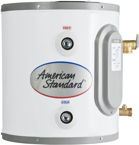 American Standard CE-6-AS 6 gallon Point of Use Electric Water Heater TOP 10 BEST ELECTRIC WATER HEATERS IN 2021 REVIEWS