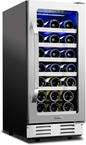 """Ivation 31-Bottle 15"""" Built-In Compressor Wine Cooler/Cellar Undercounter Wine Fridge 