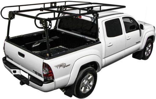 KML Black Adjustable Truck Contractor Ladder Rack Pick Up Lumber Kayak Utility 800 lbs