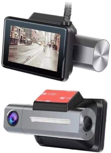 LKNJLL 4K Dual Dash Cam, 3840x2160P Ultra HD Front and 1080P Inside Car Dash Camera, Built-in GPS WiFi Dual Sony Sensors IR Night Vision Parking Monitor G-Sensor Card for Cars Truck Taxi