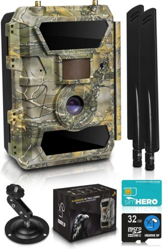 LTE-4G-Cellular-Trail-Cameras-–-Outdoor-WiFi-Full-HD-Wild-Game-Camera-with-Night-Vision-for-Deer-Hunting-Security-Wireless-Waterproof-and-Motion-Activated-–-32GB-SD-Card-Sim-Card-1-Pack