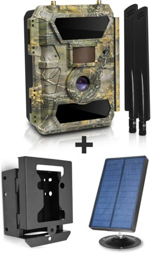 LTE-4G-Cellular-Trail-Cameras-with-Solar-Panel-Kit-Security-Metal-Bear-Box