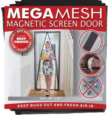 MEGAMESH MAGNETIC SCREEN DOOR BY EASY INSTALL Magnetic Screen Doors