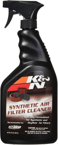 K&N Synthetic Air Filter Cleaner and Degreaser: 32 Oz Spray Bottle; Restore Engine Air Filter Performance, 99-0624
