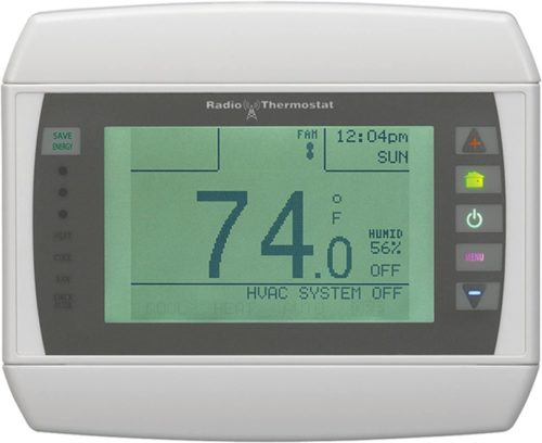 Homewerks Radio Thermostat CT-80-H-K1 Wireless Thermostat with Wi-Fi Module, Dual Wireless Inputs and Large Touch Screen