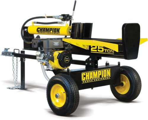Champion 25-Ton Horizontal/Vertical Full Beam Gas Log Splitter with Auto Return