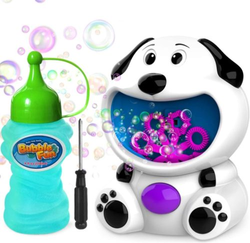 WisToyz Bubble Machine Dog Bubble Blower 500+ Bubbles Per Minute, Bubble Machine for Kids Toddlers Boys Girls Baby Bath Toys Indoor Outdoor Automatic Bubble Maker Easy to Use 2 AA Batteries Needed TOP 10 BEST BUBBLE MACHINES IN 2020 REVIEWS