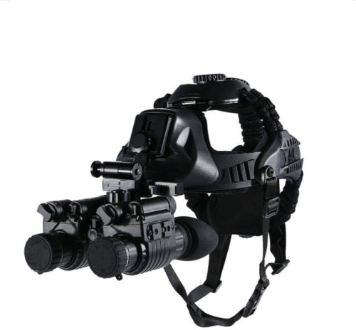 AUNLPB Night Vision Binocular Telescope, Helmet Type Infrared Telescope with Recording Function for Hunting and Watching Wildlife Security Monitoring