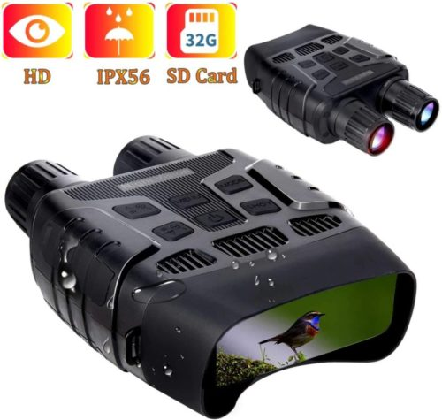 Night Vision Binoculars Hollee Night Vision Goggles for Complete Darkness 984ft Digital Infrared Binoculars with Night Vision with 32GB SD Card LCD Viewing Screen for Hunting Spotting Observation
