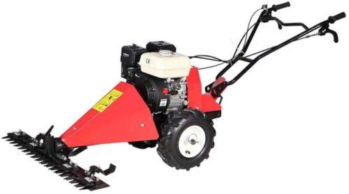 Kiyte 173CC Gas Self Propelled Lawn Mower, 4-Stroke Multi-Function String Trimmer Brushcutter Weed Wacker, Push Lawn Sweeper,Red