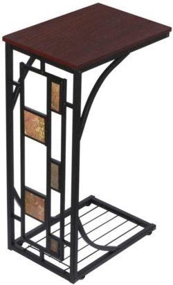 Topeakmart C-shaped table