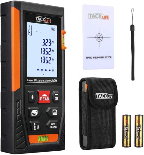 Tacklife-HD60-Classic-Laser-Measure-196Ft-Laser-Distance-Meter-with-2-Bubble-Levels-Backlit-LCD-and-Pythagorean-Mode-Measure-Distance-Area-and-Volume-Carry-Pouch-and-Battery-Included