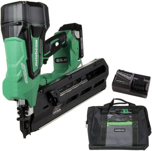 "Metabo HPT Cordless Framing Nailer Kit, 18V, Brushless Motor, 2"" Up To 3-1/2"" Framing Nails, Compact 3.0 Ah Lithium Ion Battery, Lifetime Tool Warranty (NR1890DRS)"