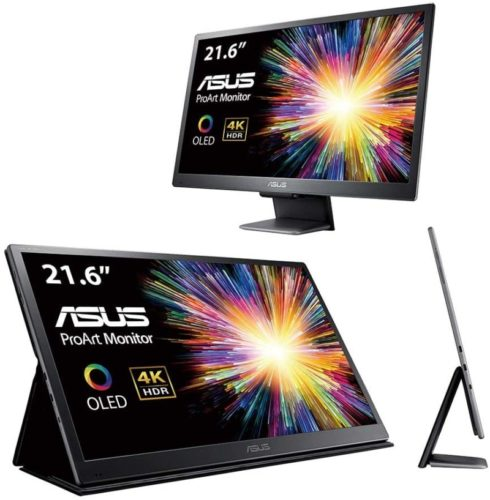 """Asus ProArt PQ22UC 21.6"""" 4K (3840 X 2160) HDR OLED Ultra-Slim Portable Monitor Delta E<2 0.1ms USB Type-C Micro HDMI Dolby Vision HDR10 Hlg Eye Care"""