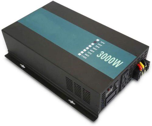 QWERTOUY 3000W Car Power Inverter 24V 220V Pure Sine Wave Inverter Solar System DC to AC Converter Transformers 12V/48V to 120V/230V/240V