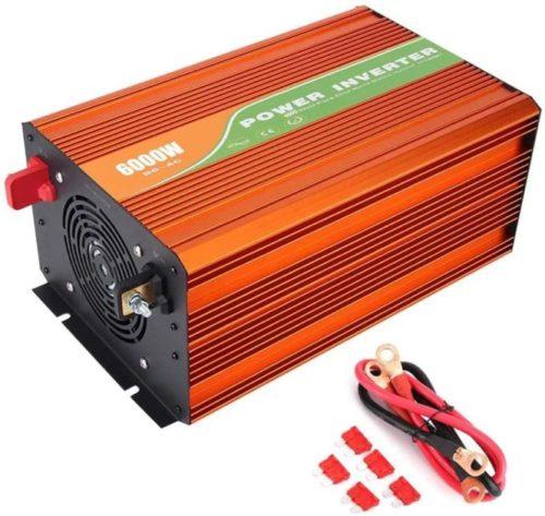 HRYHY Solar Power System Pure Sine Wave Solar Inverter 24V to 220V6000W Car Inverter High Frequency 4V/48V to 220V LCD Solar Power Inverter, 6000W Pure Sine Wave Inverter